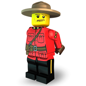 The Magnificent Mountie minifigure